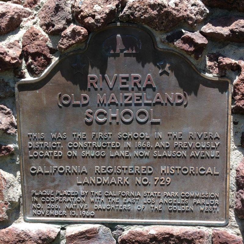 NO. 729 OLD MAIZELAND SCHOOL - State Plaque