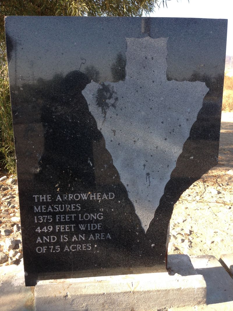 NO. 977 THE ARROWHEAD - Private Plaque