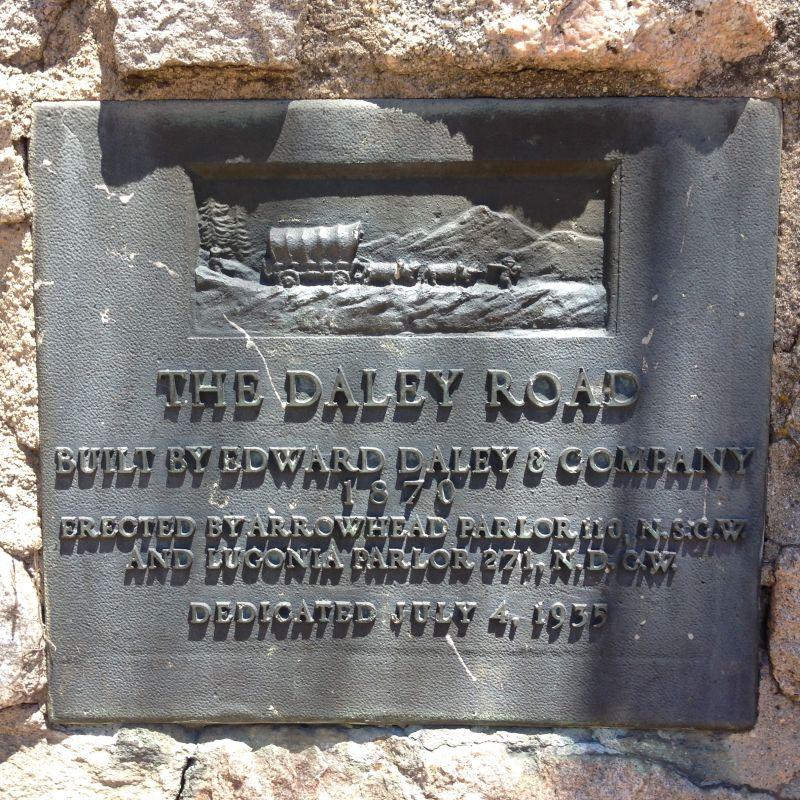 NO. 579 DALEY TOLL ROAD MONUMENT - Private Plaque