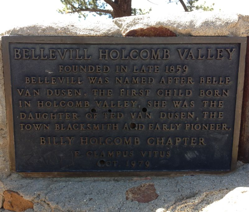NO. 619 HOLCOMB VALLEY - Private Plaque at site