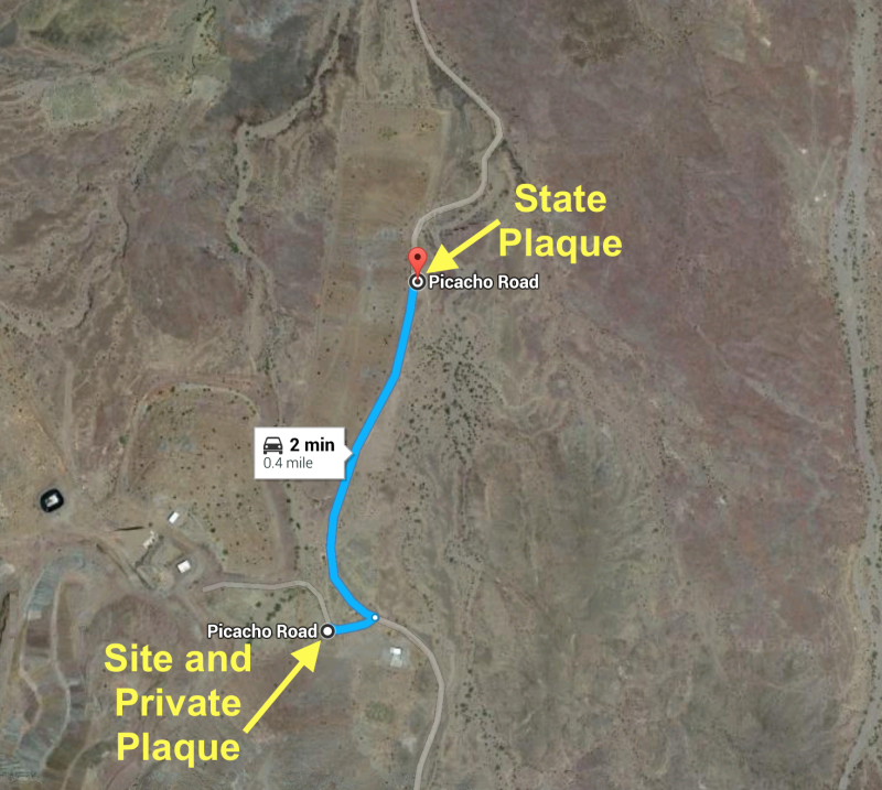 NO. 193 PICACHO MINES -    Map of Site and Plaques
