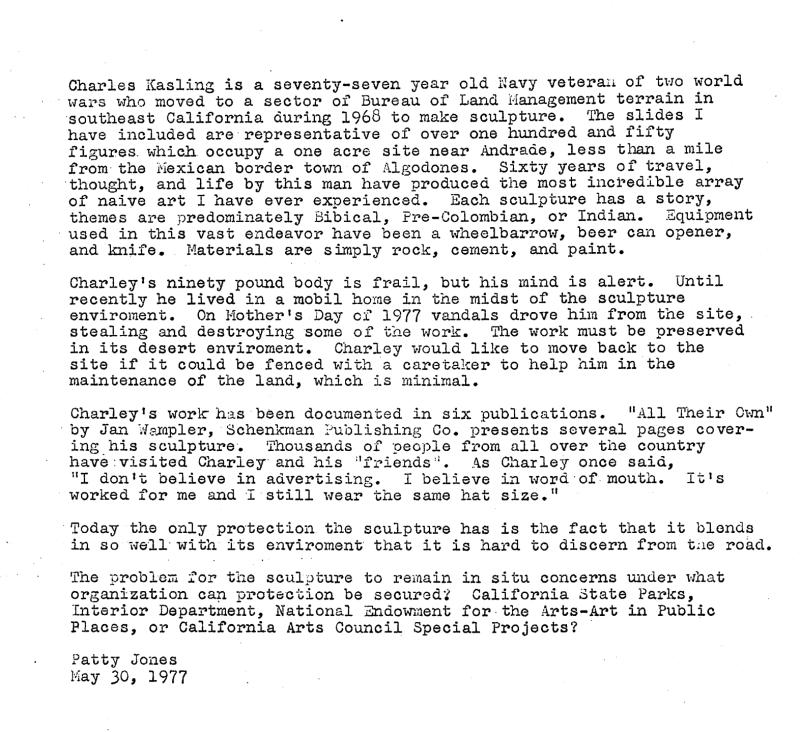 Brief Bio of Charlie Kasling, 5/30/1977