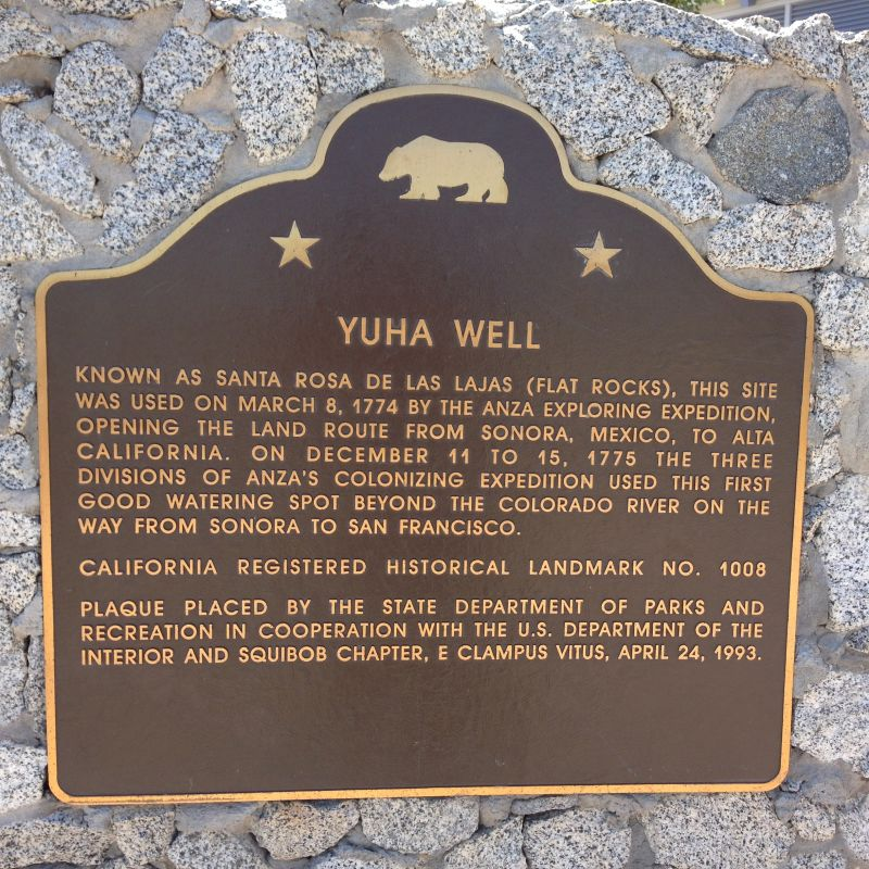 NO. 1008 YUHA WELL - State Plaque