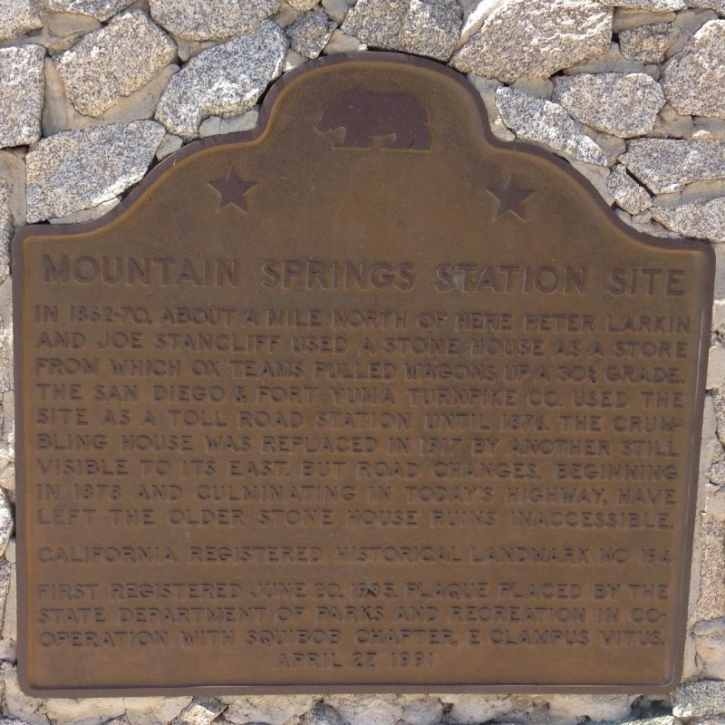 NO. 194 MOUNTAIN SPRINGS STATION -
