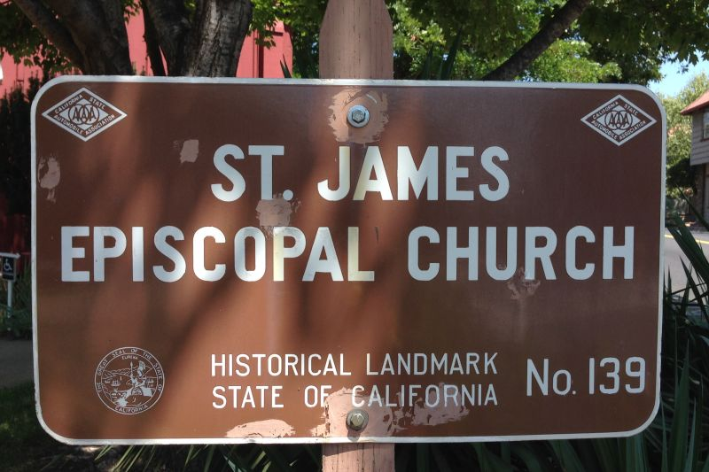 No. 139 ST. JAMES EPISCOPAL CHURCH - Private plaque