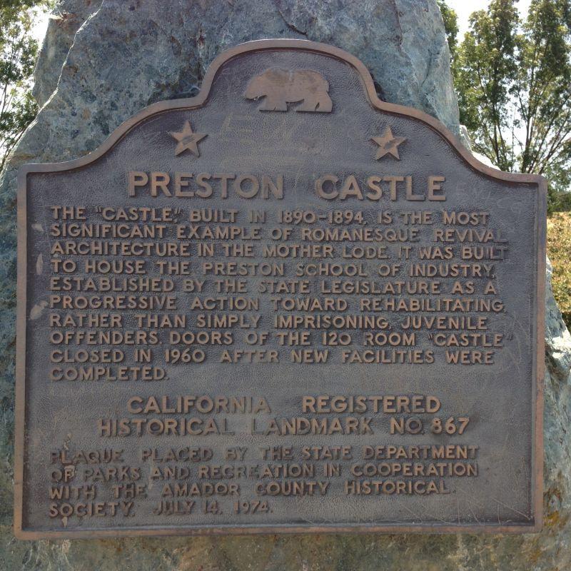 NO. 867 PRESTON CASTLE - State Plaque