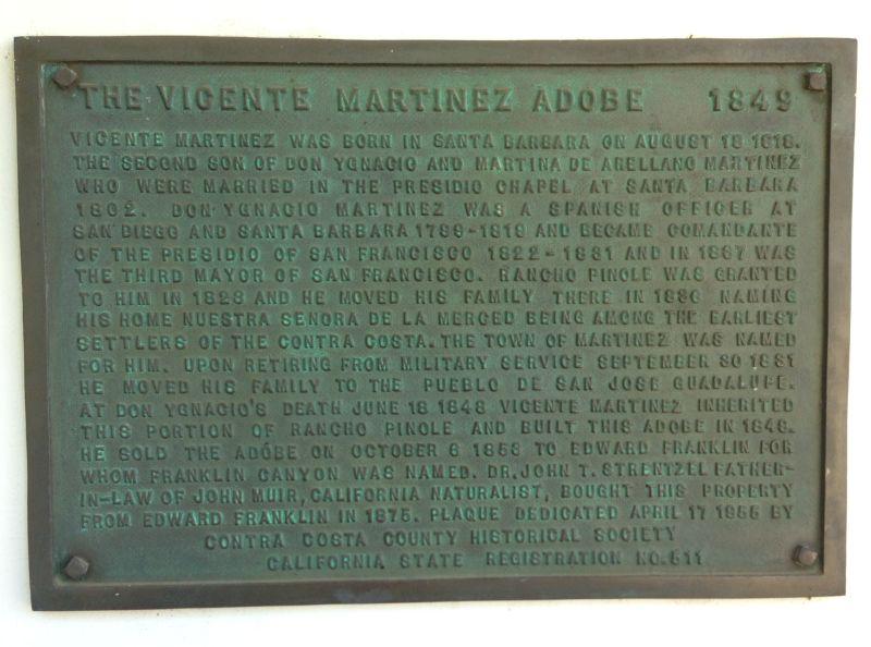 NO. 511 VICENTE MARTÍNEZ ADOBE - Private Plaque at Front Door