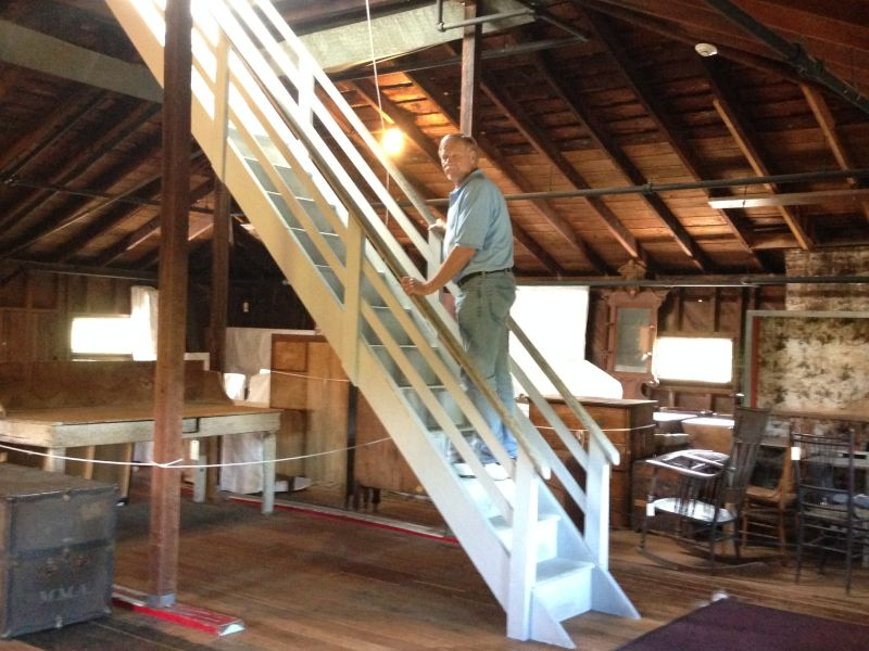 CHL #312 -John Muir National Historic Site - Attic and stairs to Bell Tower