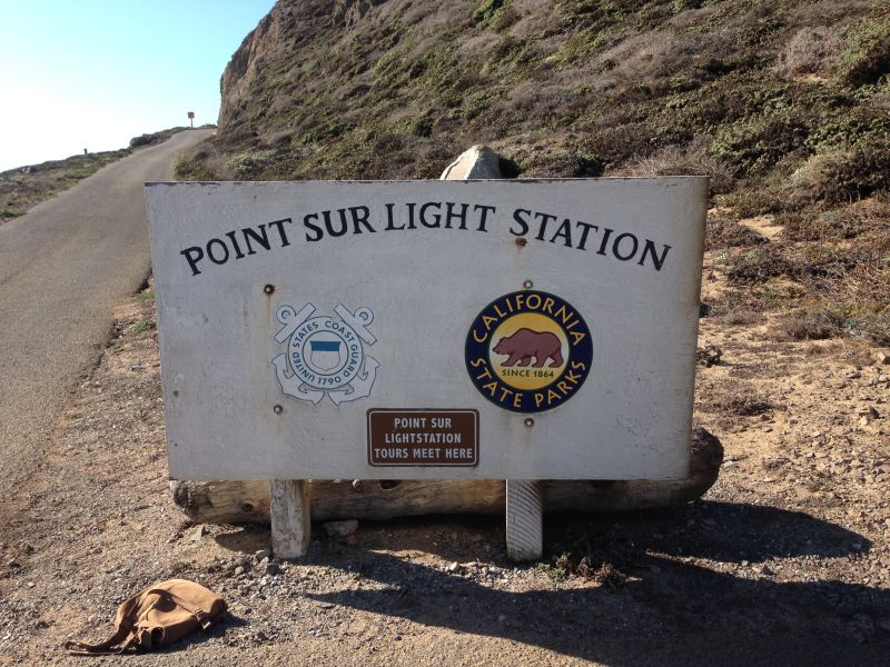 NO. 951 POINT SUR LIGHT STATION- Heading up the hill