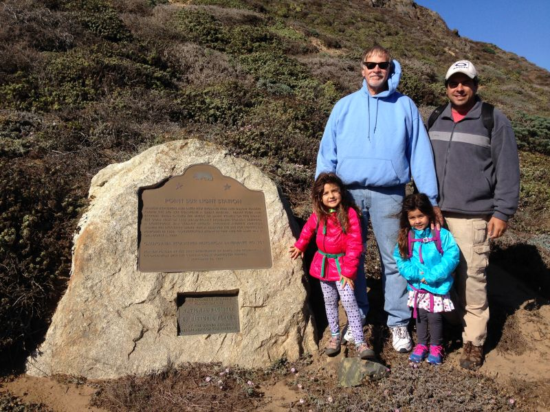 NO. 951 POINT SUR LIGHT STATION = Denis with our son and grand daughters