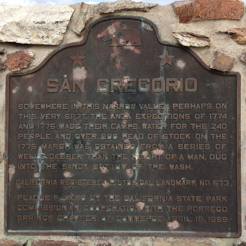 NO. 673 SAN GREGORIO - State Plaque