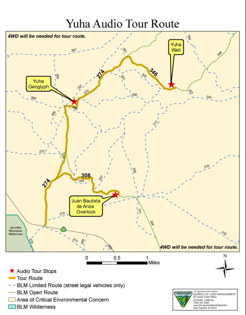 NO. 1008 YUHA WELL - Bureau of Land Management Map