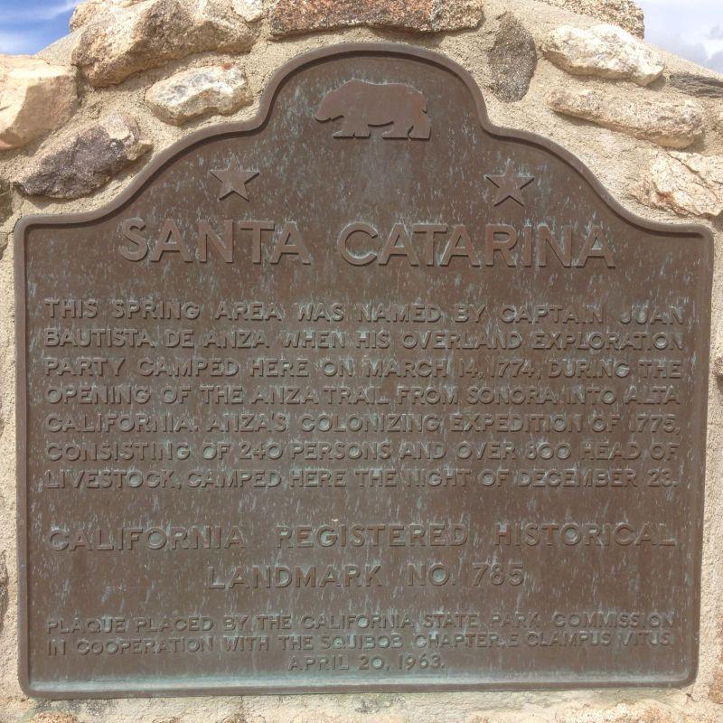 NO. 785 SANTA CATARINA - State Plaque