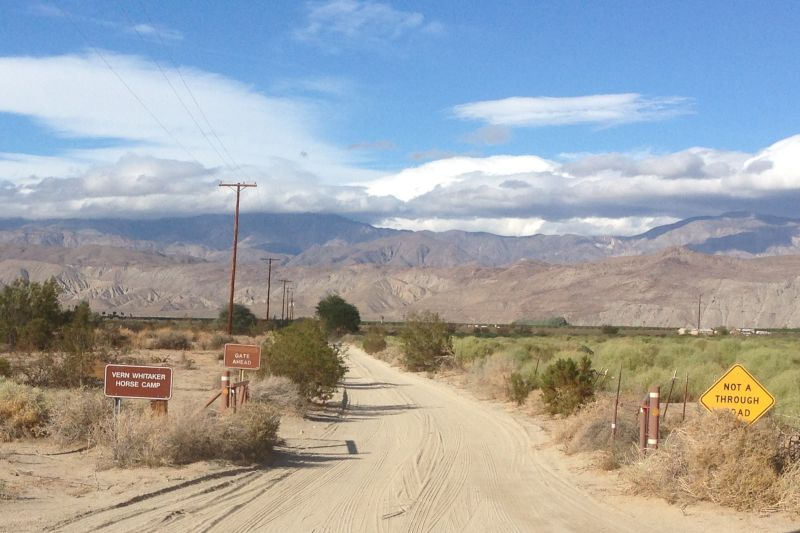 NO. 634 EL VADO  (The Anza Trail) - Head north on Horse Camp Road