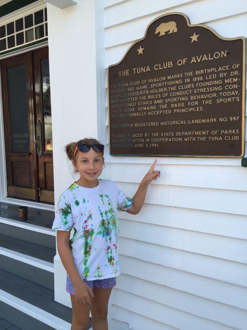 NO. 997 TUNA CLUB OF AVALON -  Our Grand daughter
