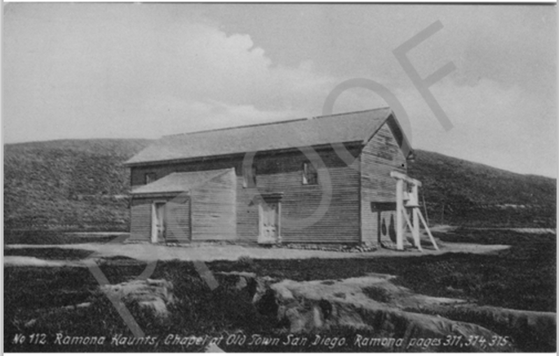 CHL #49 Adobe Chapel of the Immaculate Conception-Old Photo