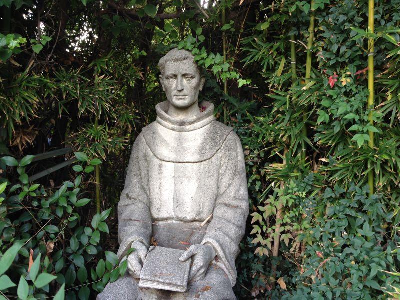 CHL #157 - Mission San Fernando Rey de España - Father Lasuén Statue
