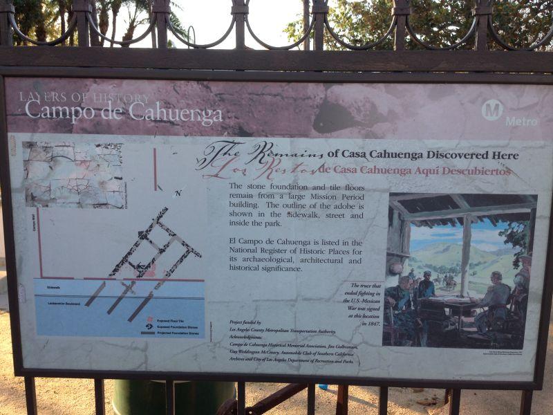 No. 151 Campo de Cahuenga - Info Board