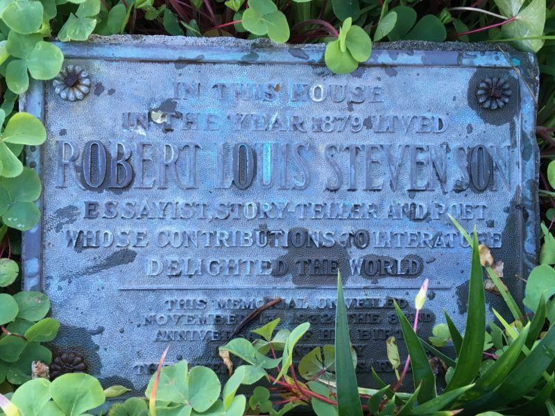NO. 352 ROBERT LOUIS STEVENSON HOUSE - Private Plaque