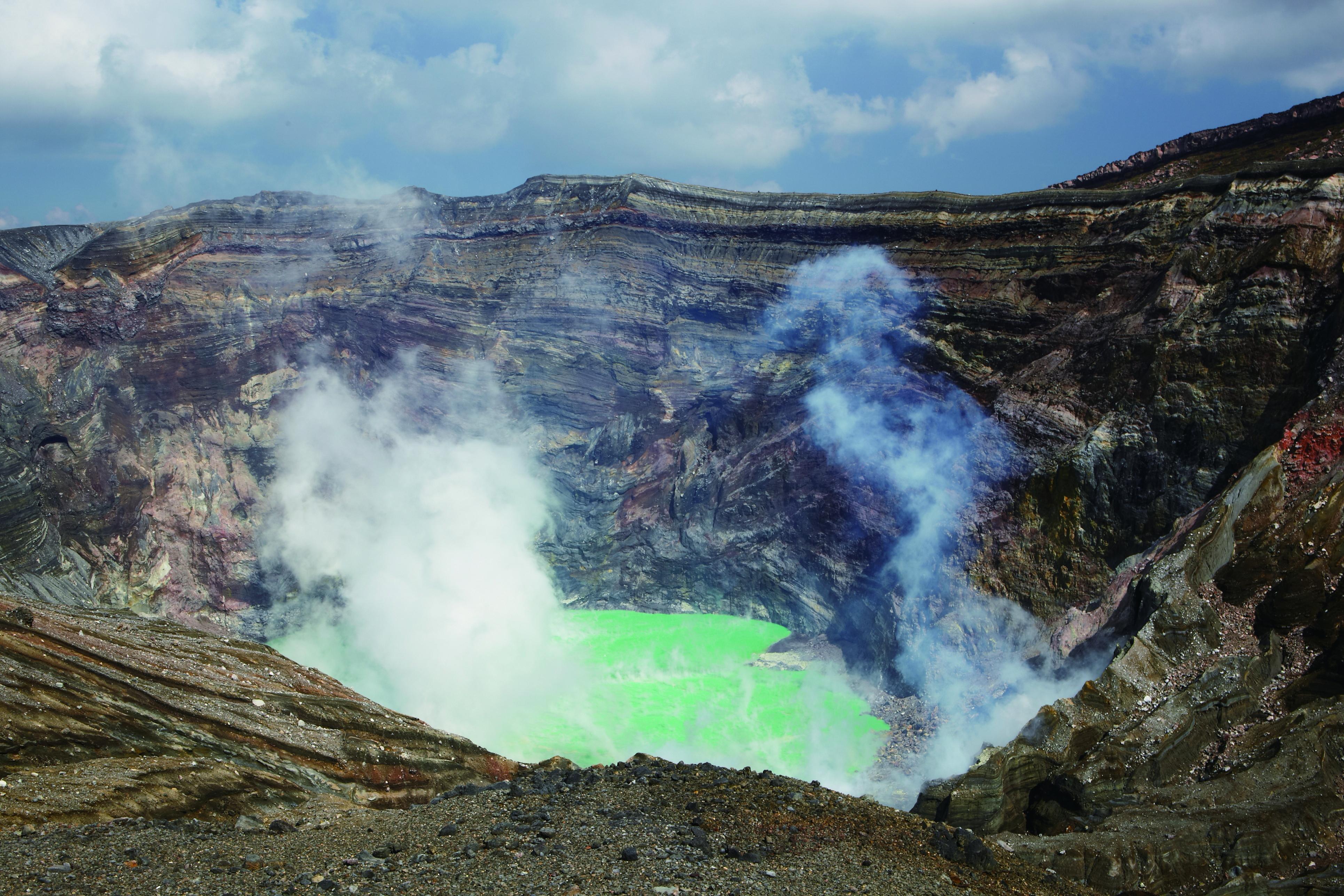 Mt. Aso Nakadake Crater
