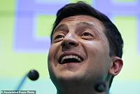 Ukrainian comedians win a landslide...