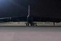 US B-52 bomber lands at Qatar base, a...