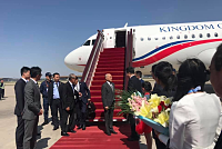 The King of Cambodia arrived in...