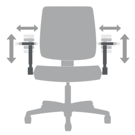 Chair Functions Height and Width Adjustable Arms