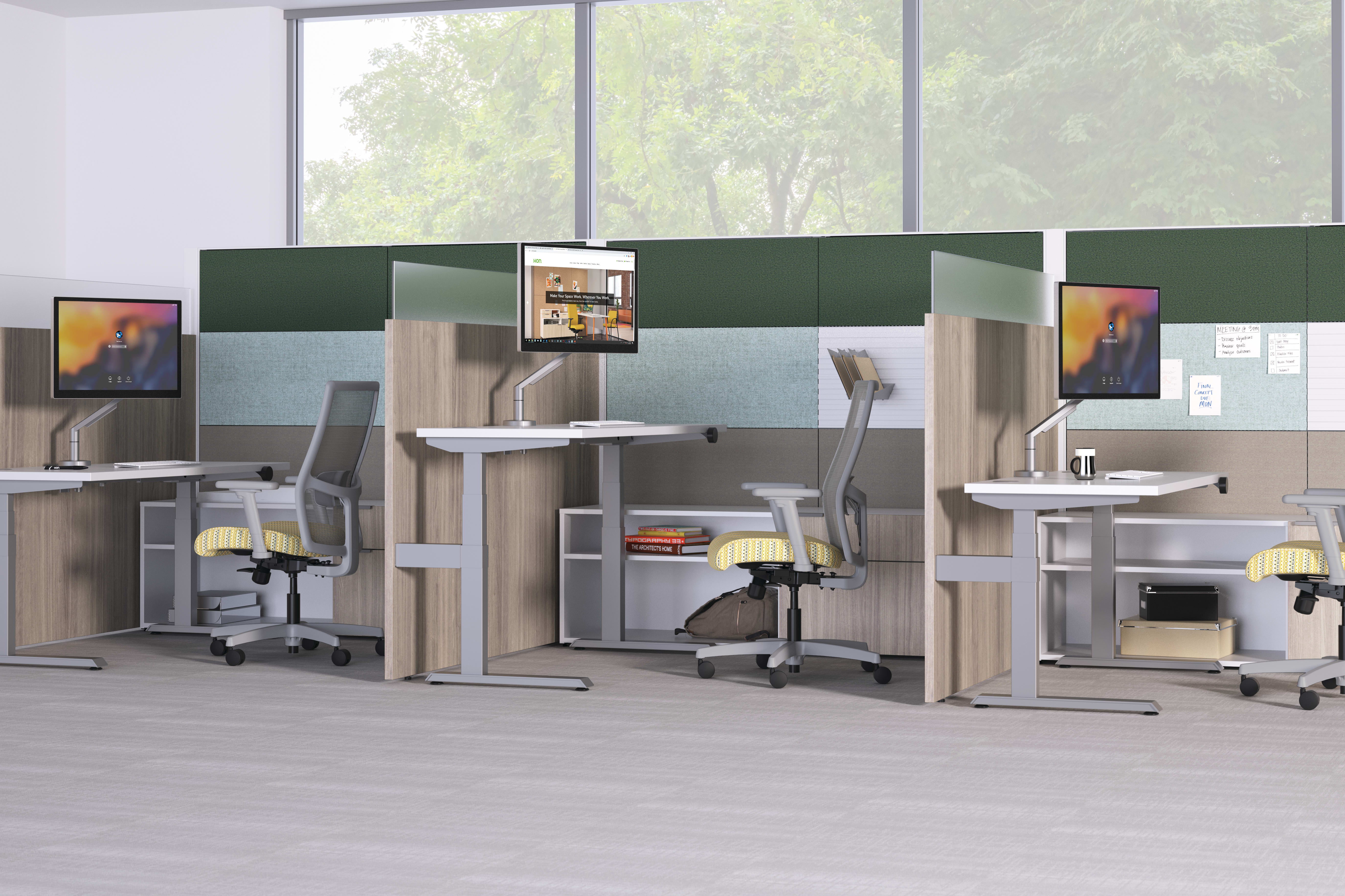 Abound Sit-to-stand Cubicle Workstations