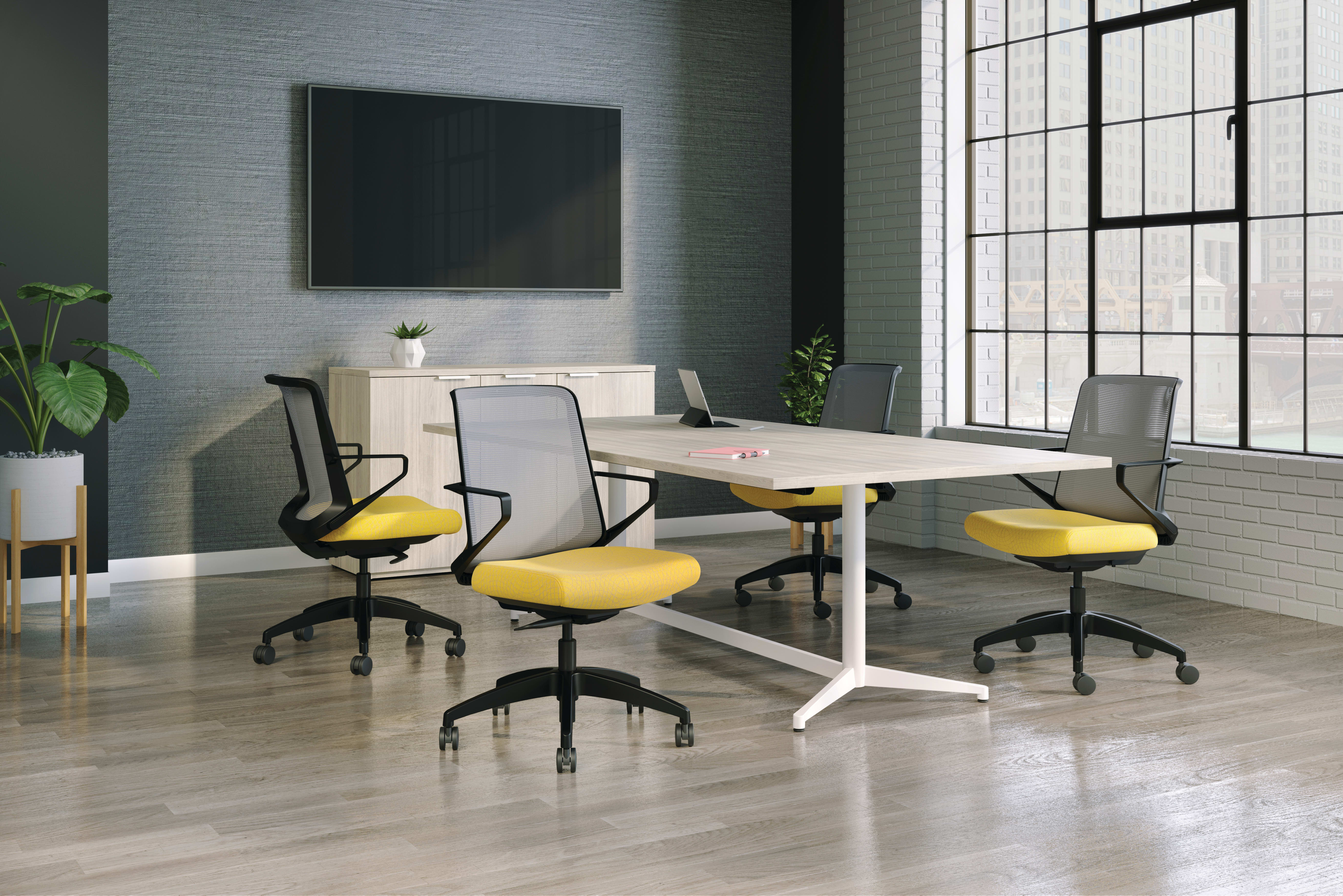 Cliq chairs with Preside conference table and credenza.