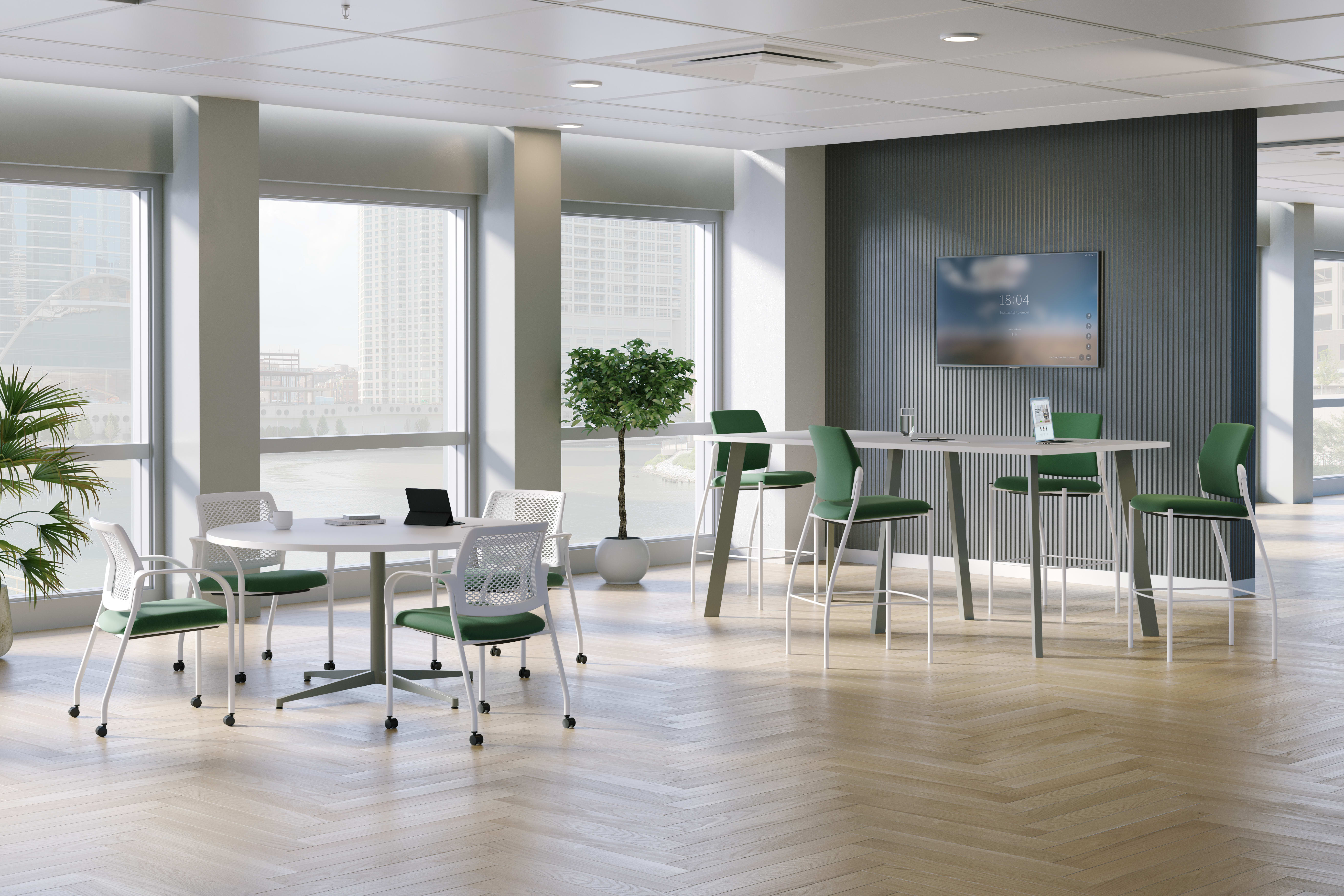 Ignition multi-purpose and café stools in a commons area