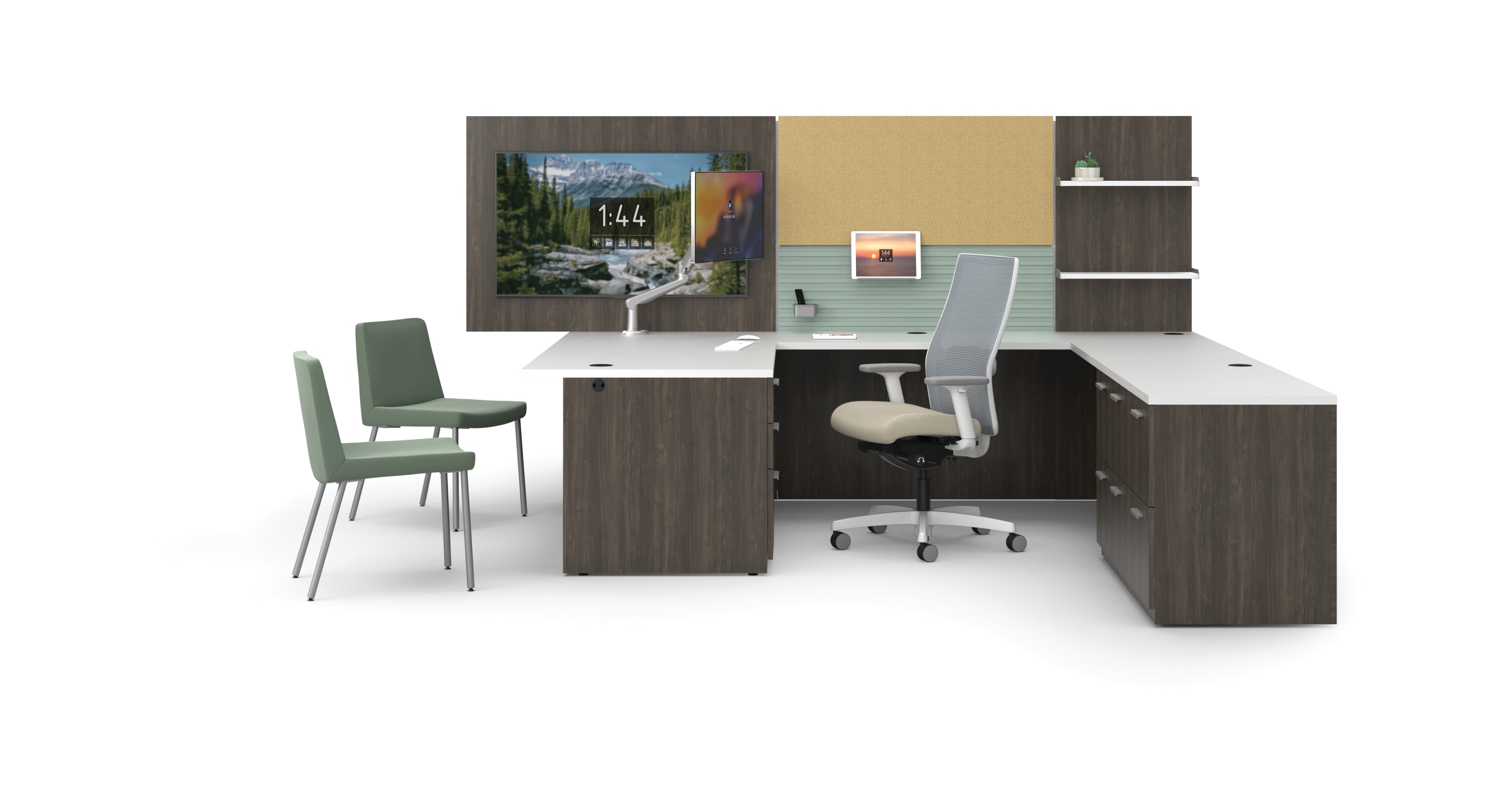 Concinnity private office with Workwall tiles and Ignition and Flock seating