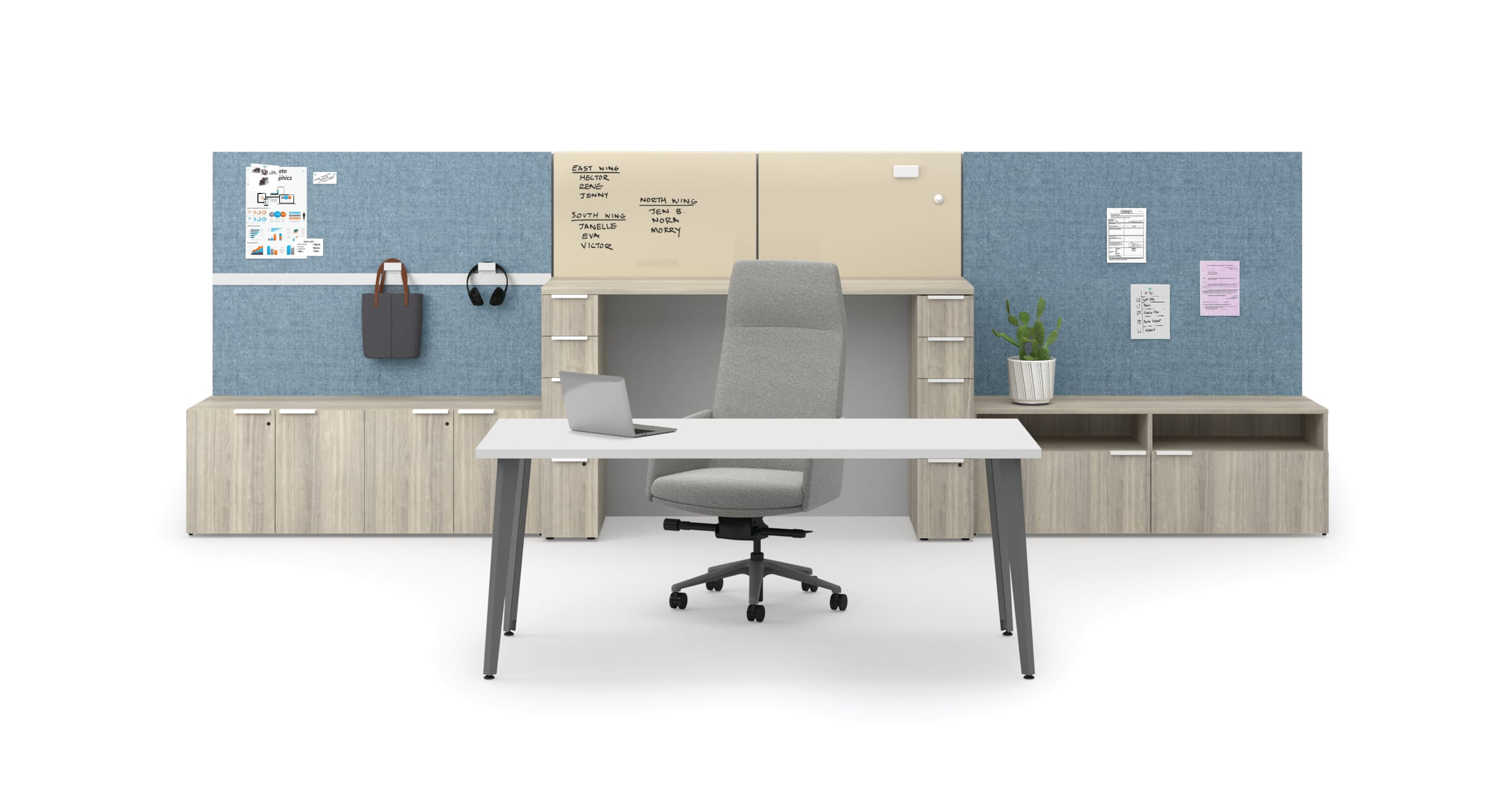 Voi private office with Workwall tiles and Mav Chair