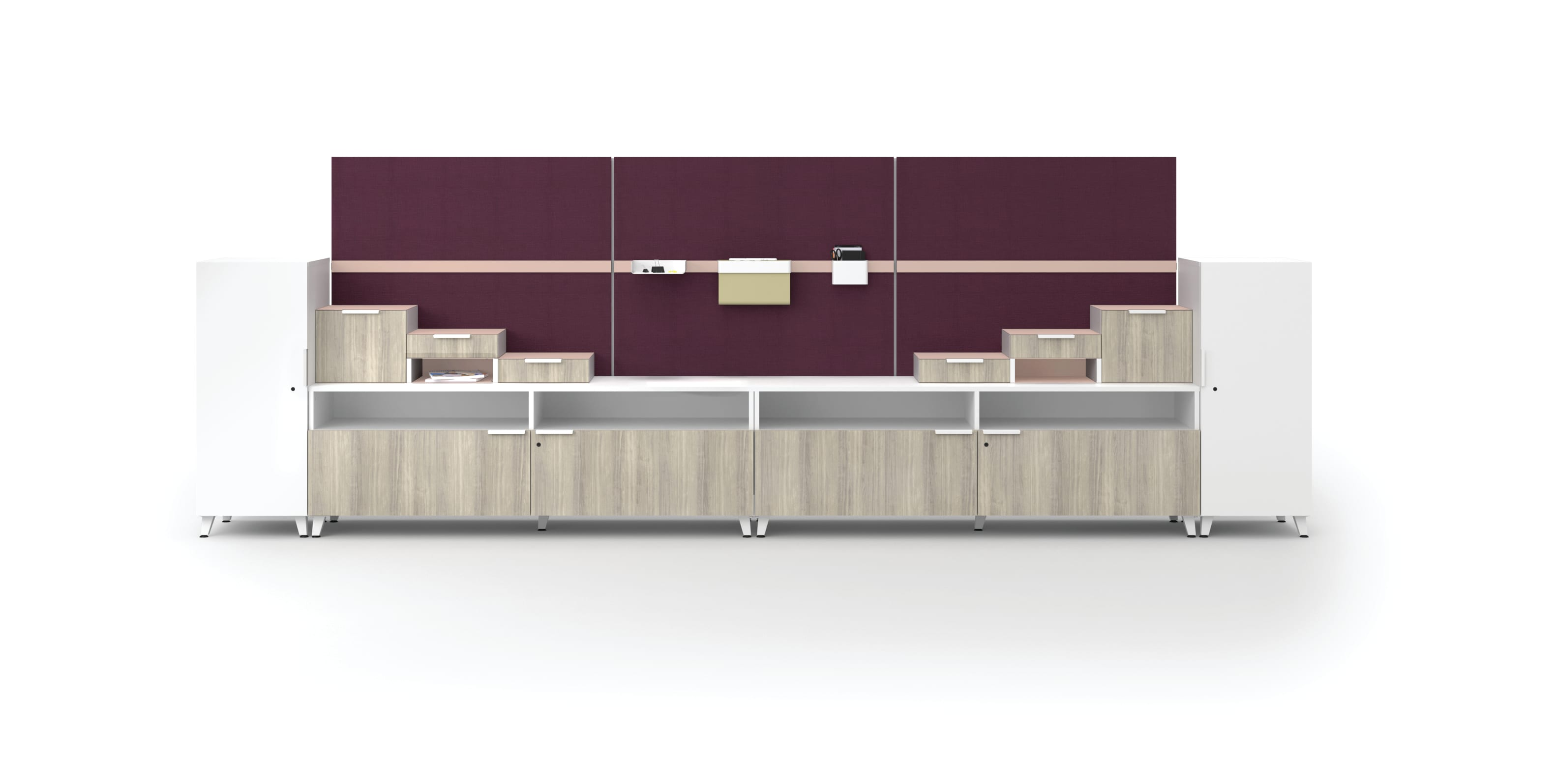 Voi storage wall with Workwall tiles