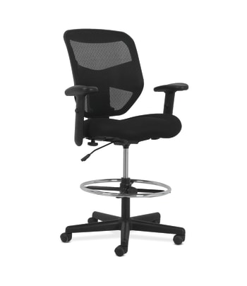 Prominent High-Back Task Stool | Height- and Width-Adjustable Arms
