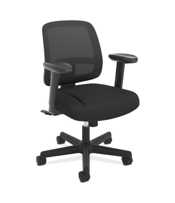 ValuTask Mesh Back Task Chair | Center-Tilt | Adjustable Arms