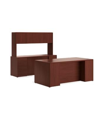 10700 Series Desk w/Storage Credenza/ Stack-on