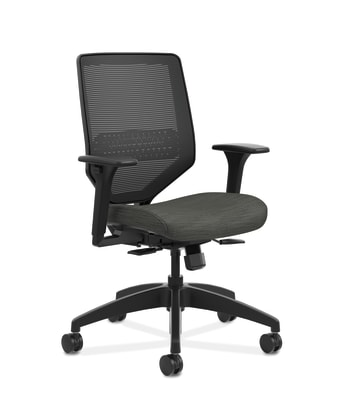 Solve Mid-Back Task Chair with Knit Mesh Back