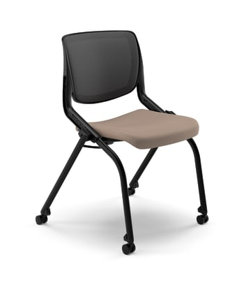 Motivate Nesting/Stacking Chair   Flex Back   Upholstered Seat   Fire Code Model