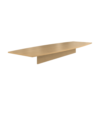 """Preside Laminate Table Top   Boat Shape   168""""W   2 Pieces"""