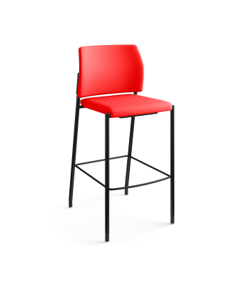 Accommodate Dual Fabric Cafe Height Stool