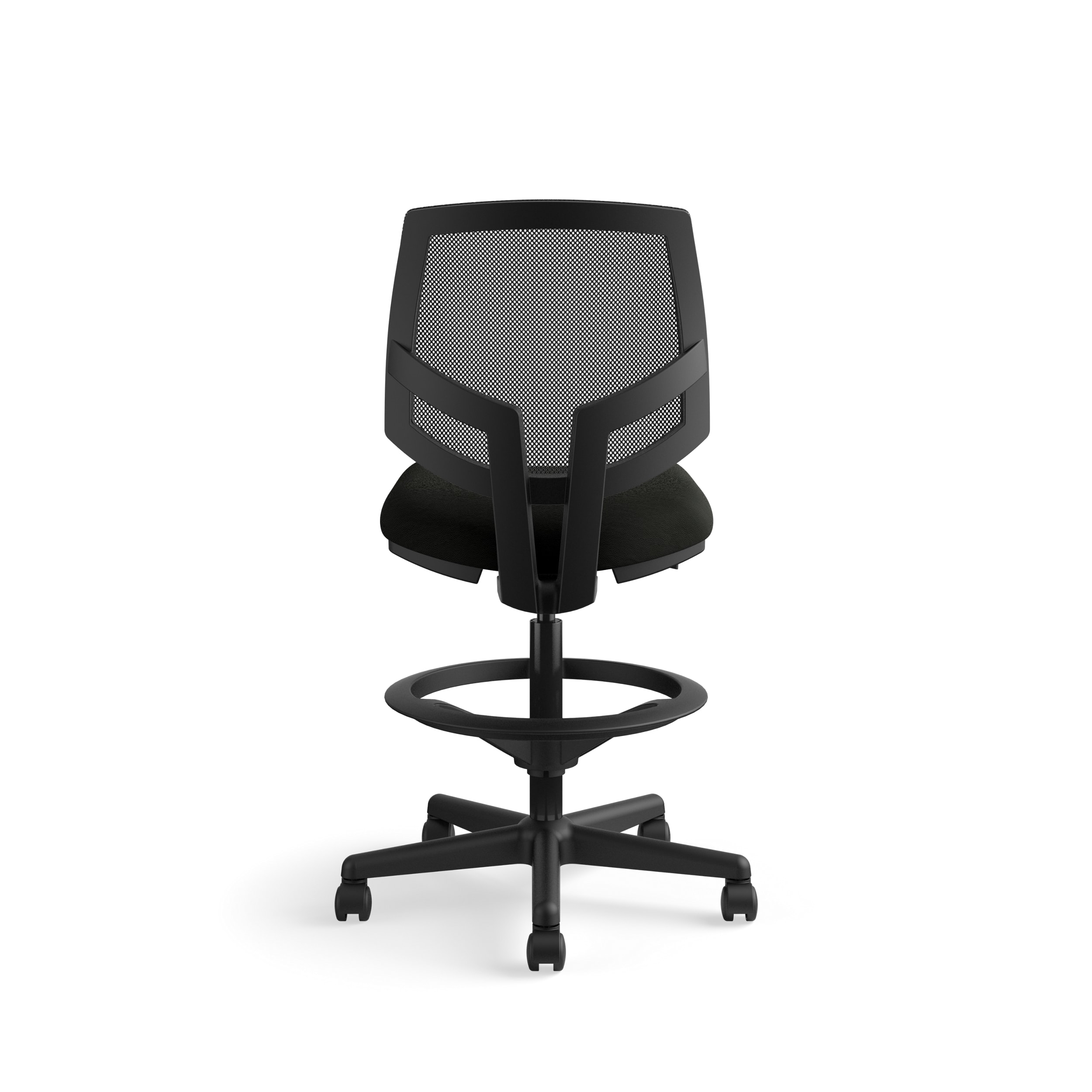 Black H5715 The HON Company SB11.T HON5715SB11T HON Volt Mesh Back Task Upholstered Adjustable Office Stool