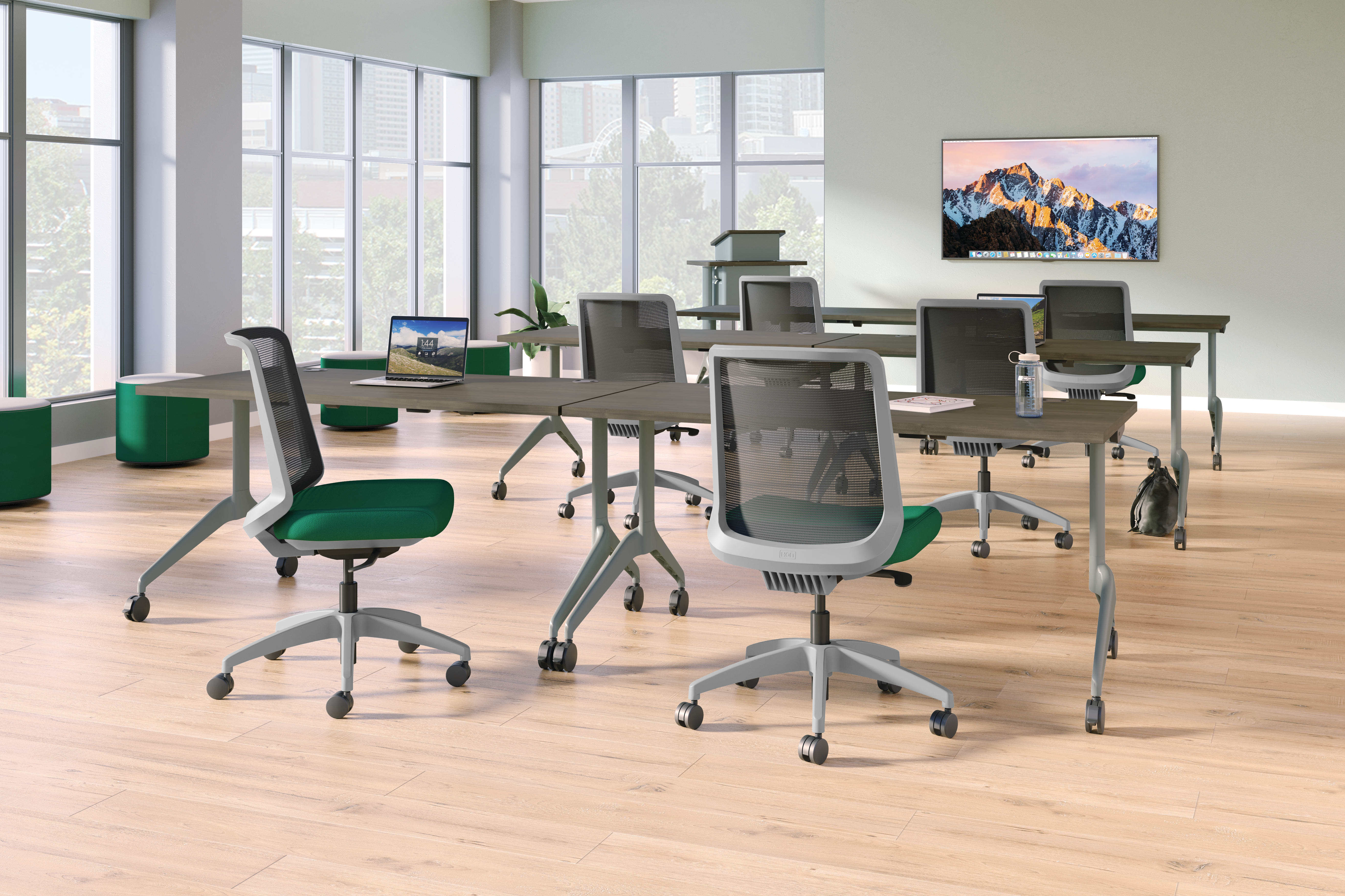 Cliq chairs with Motivate training tables.