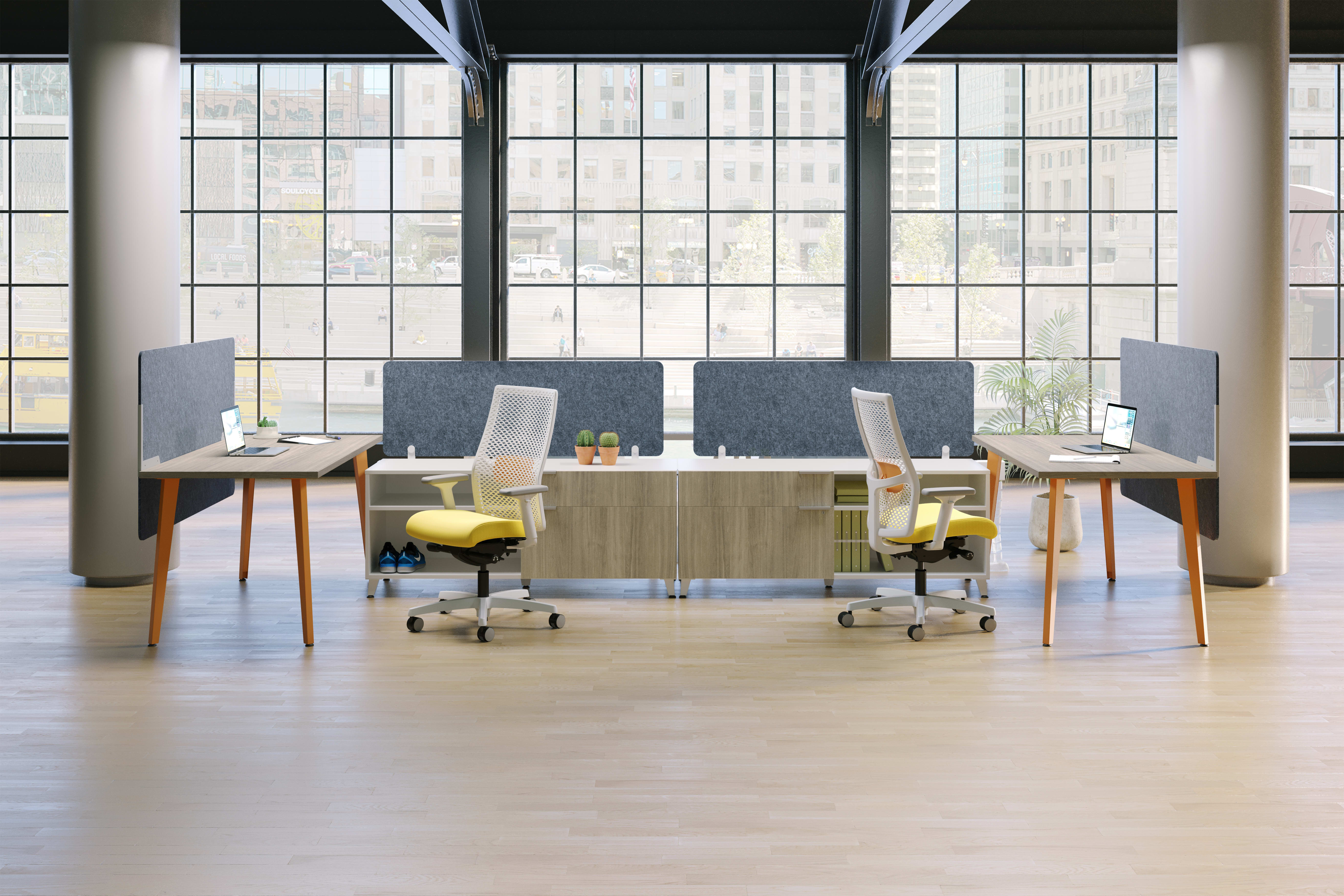 Ignition task chairs at Voi desks in an open space