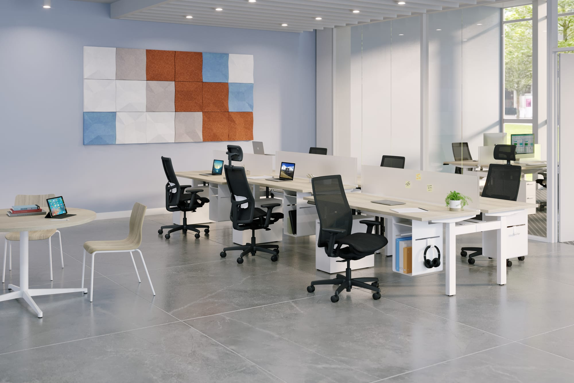 Ignition 2.0 mesh seat task chairs at Empower workstations