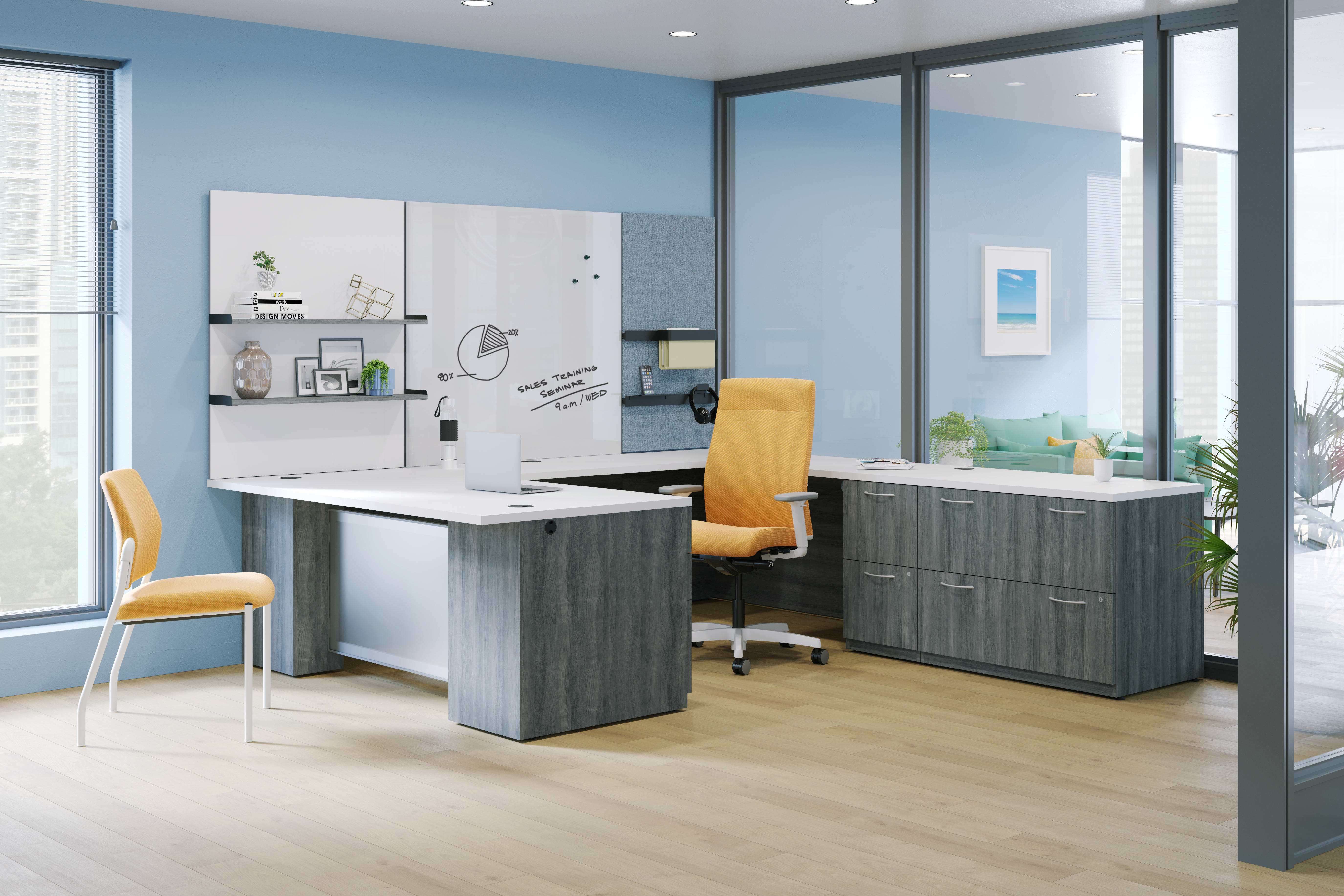 Concinnity Private Office with Workwall tiles and Ignition seating