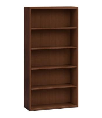 "HON Valido Bookcase | 5 Shelves | 36""W | Shaker Cherry Finish"