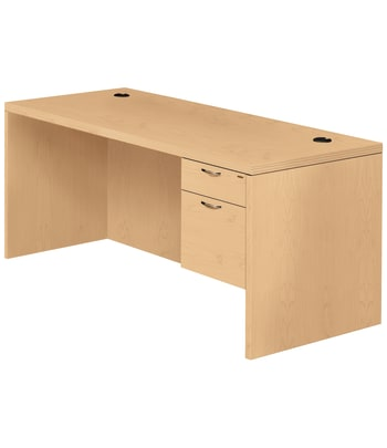 "HON Valido Right Pedestal Desk | 1 Box / 1 Supply Drawer | 66""W 