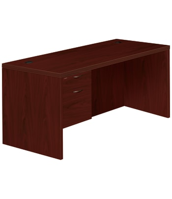 "HON Valido Left Pedestal Desk | 1 Box / 1 File Drawer | 66""W 