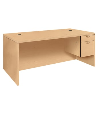HON Valido 11500 Series Single Pedestal Desk | Right, Rectangle Top | 72W x 36D x 29-1/2H | Natural Maple